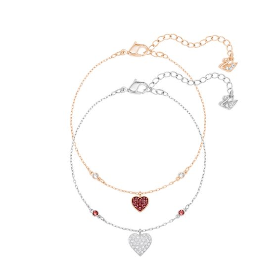 Conjunto Pulseira Crystal Wishes Heart, Red
