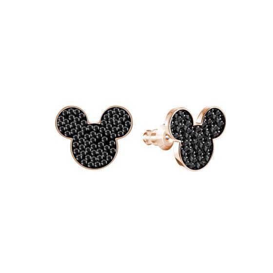 Brincos-Mickey---Minnie-Preto-Metal-Rose-Dourado