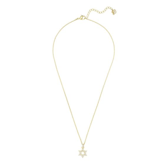 Colar-Star-Of-David-Branco-Metal-Dourado