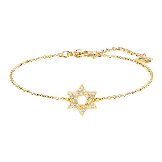 Pulseira-Star-Of-Branca-Metal-Dourado