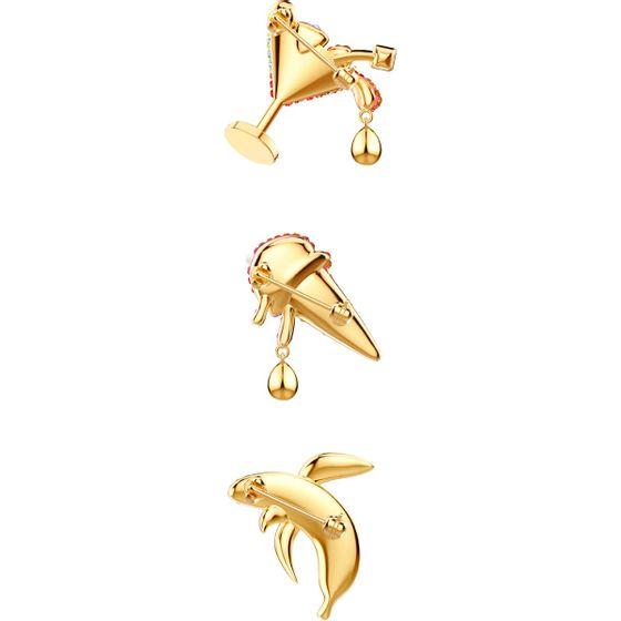Conjunto-de-Broches-No-Regrets-Multicolor-Banho-de-ouro