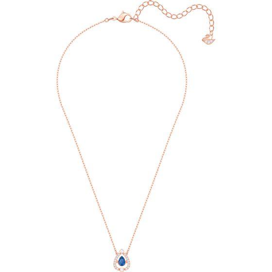 Colar-Sparkling-Dance-Pear-Azul-Banho-de-ouro-rosa