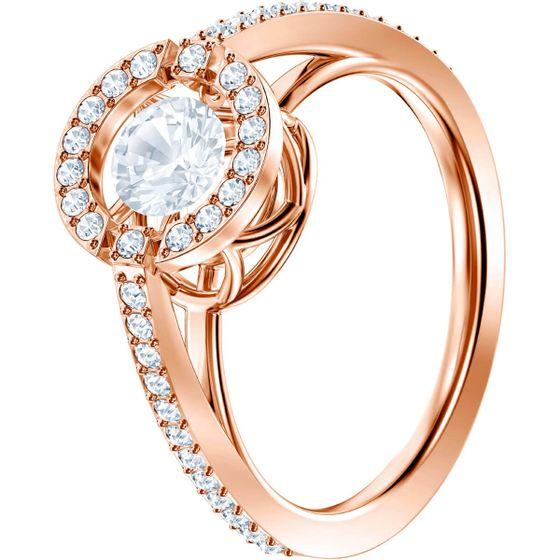 Anel-Sparkling-Dance-Round-Branco-Banho-de-ouro-rosa