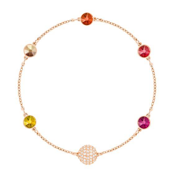 Swarovski-Remix-Collection-Laranja-Multicolorido-Revestimento-De-Ouro-Rosa