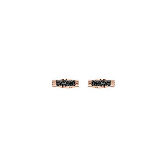 Abotoadeiras-Crystaldust-Preto-Revestido-em-tom-de-Ouro-Rosa