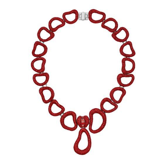Colar-Tigris-Statement-Necklace-Vermelho-Revestido-em-Paladio