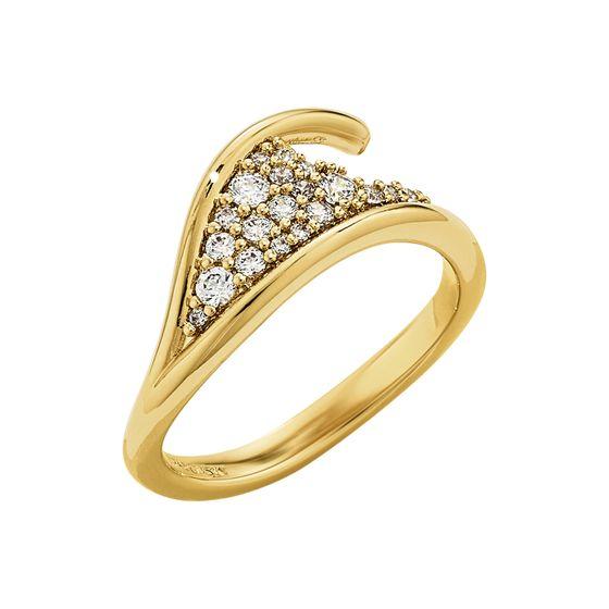 Anel-Gilded-Treasures-Simple-Branco-Revestido-em-Tom-de-Ouro