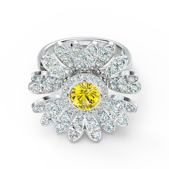 Anel-Eternal-Flower-Amarelo-Acabamento-em-Mix-de-Metais