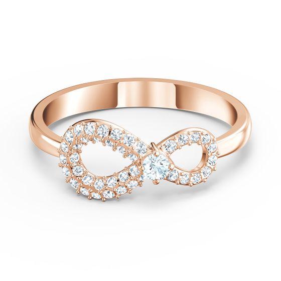 Anel-Swarovski-Infinity-Branco-Revestido-em-Tom-de-Ouro-Rosa