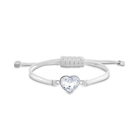 Pulseira-Swarovski-Power-Collection-Heart-Branco-Aco-Inoxidavel