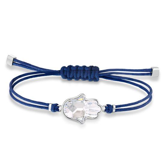 Pulseira-Swarovski-Power-Collection-Hamsa-Hand-Azul-Aco-Inoxidavel