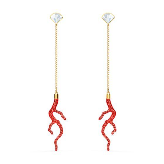 Brincos-Shell-Coral-Vermelho-Revestidos-em-Tom-de-Ouro