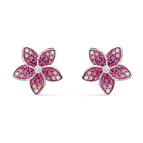 Brincos-Tropical-Flower--Rosa-Revestidos-a-Rodio