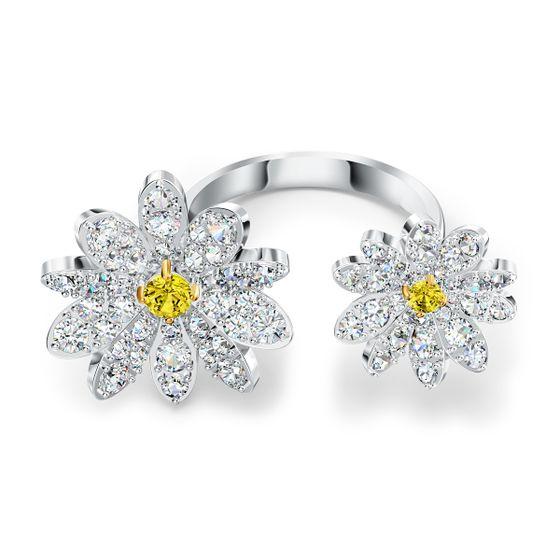 Anel-Eternal-Flower-Open-Amarelo-Acabamento-em-Mix-de-Metais