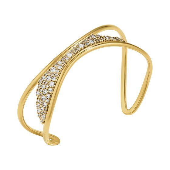 Pulseira-Gilded-Treasures-Branco-Revestido-em-Tom-de-Ouro