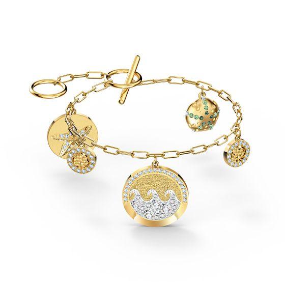 Pulseira-Shine-Coins-Multicolor-Revestida-em-Tom-de-Ouro