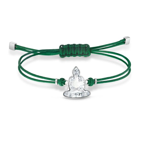 Pulseira-Swarovski-Power-Collection-Buddha-Verde-Aco-Inoxidavel
