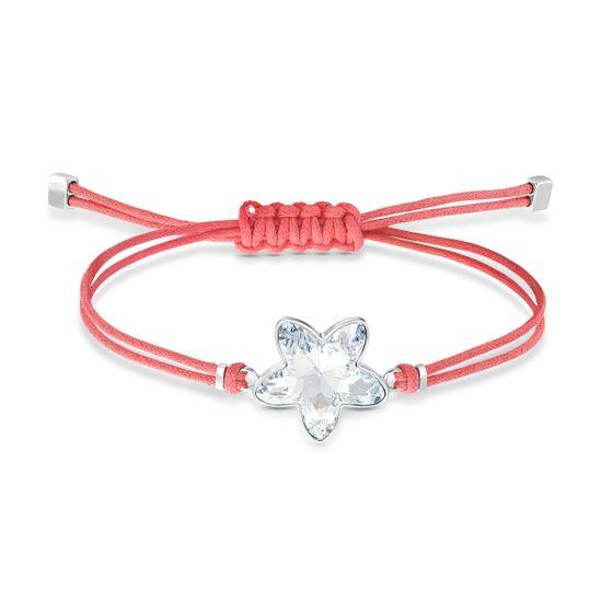 Pulseira-Swarovski-Power-Collection-Flower-Vermelho-Aco-Inoxidavel