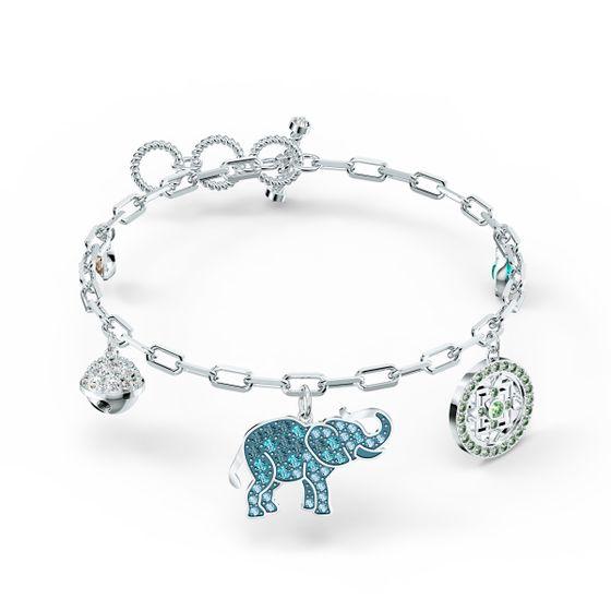 Swarovski-Symbolic-Elephant-Bracelet-Multicolor-Revestido-a-Rodio