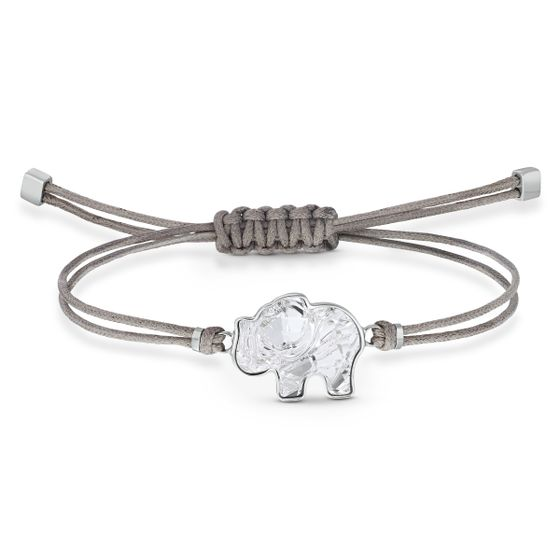 Pulseira-Swarovski-Power-Collection-Elephant-Cinza-Aco-Inoxidavel