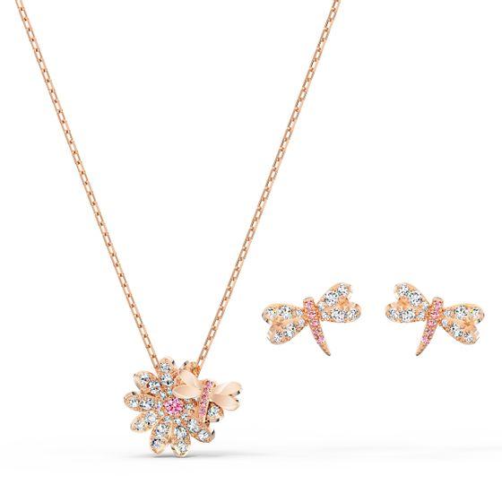 Conjunto-Eternal-Flower-Dragonfly-Rosa-Revestido-em-Tom-de-Ouro-Rosa