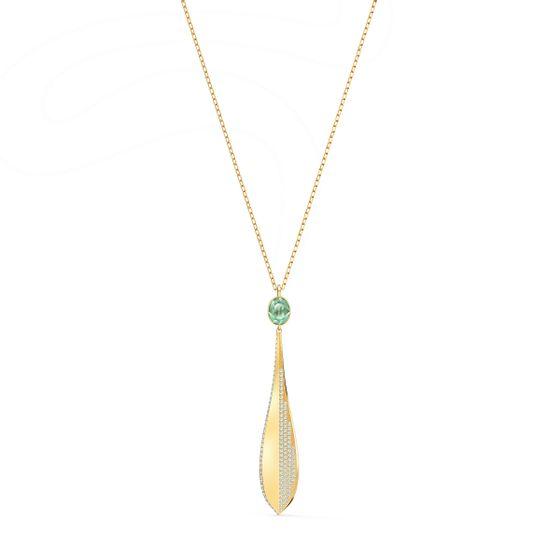 Pingente-Stunning-Olive-Verde-Revestido-em-Tom-de-Ouro-Rosa