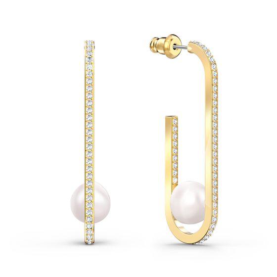 Brincos-So-Cool-Pearl-Branco-Revestido-em-Tom-de-Ouro