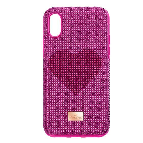 Capa-para-Smartphone-Crystalgram-Heart-com-Protecao-Antichoque-iPhone®-X-XS-Rosa