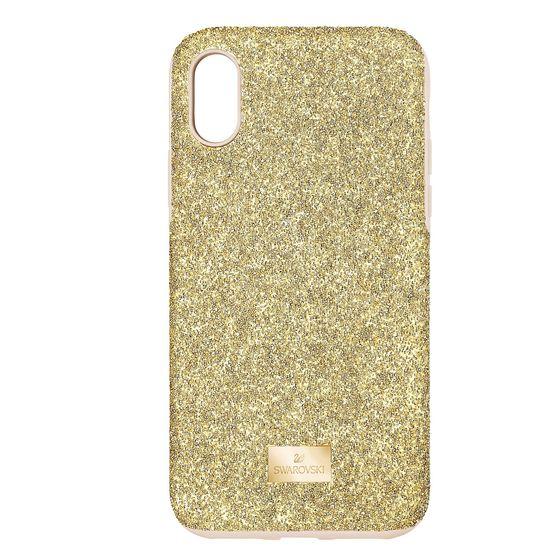 Capa-para-Smartphone-High-com-Protecao-Antichoque-iPhone®-XS-Max-Dourado