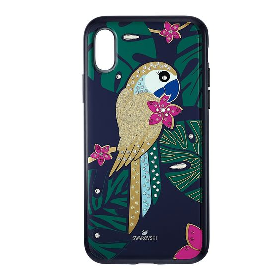Capa-para-Smartphone-Tropical-Parrot-com-Protecao-Antichoque-iPhone®-X-XS-Multicolor