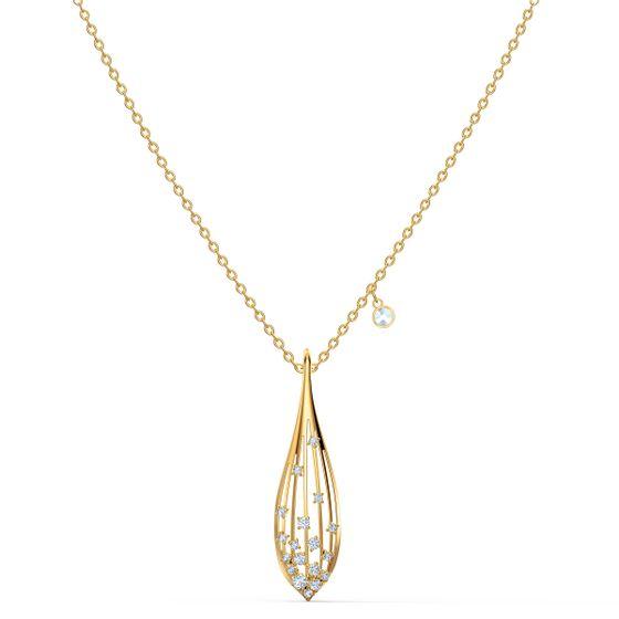 Pingente-Stunning-Olive-Branco-Revestido-em-Tom-de-Ouro