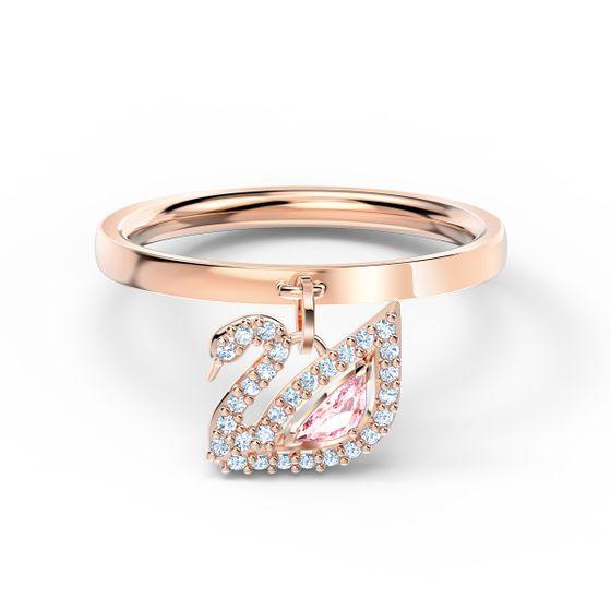 Anel-Dazzling-Swan-rosa-banhado-a-rosa-dourado