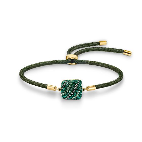 Pulseira-Swarovski-Power-Collection-Elemento-Terra-verde-banhada-com-tom-dourado