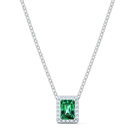 Colar-Angelic-Rectangular-verde-banhado-a-rodio