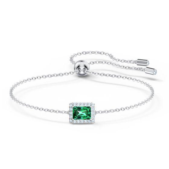 Pulseira-Angelic-Rectangular-verde-banhada-a-rodio