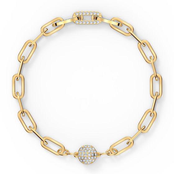Pulseira-The-Elements-Chain-branca-banhada-com-tom-dourado