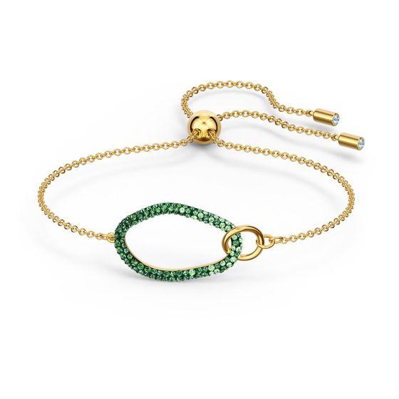Pulseira-The-Elements-verde-banhada-a-ouro