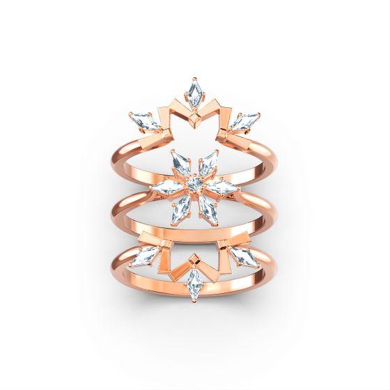 Conjunto-de-aneis-Magic-branco-banhado-a-rosa-dourado