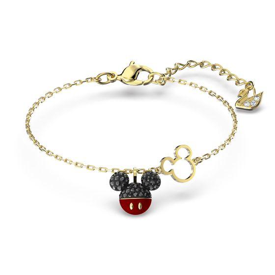 Pulseira-Mickey-preto-banhado-a-ouro