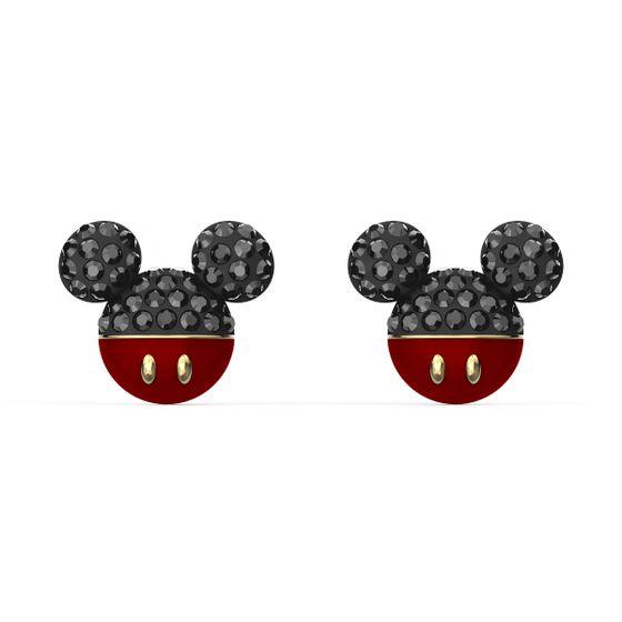 Brincos-perfurados-Mickey-preto-banhado-a-ouro