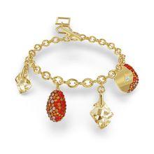 Pulseira-The-Elements-vermelha-banhada-a-ouro
