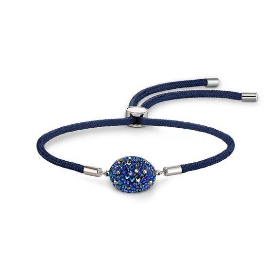 Pulseira-Swarovski-Power-Collection-Elemento-Agua-azul-aco-inoxidavel