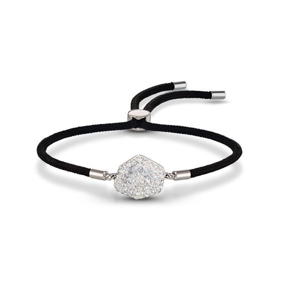 Pulseira-Swarovski-Power-Collection-Elemento-Ar-preta-aco-inoxidavel