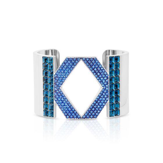 Bracelete-logo-Karl-Lagerfeld-Azul-banhado-a-Paladio