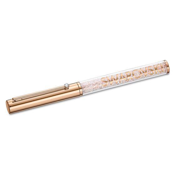 Caneta-esferografica-Crystalline-Gloss-banhada-com-tom-rosa-dourado