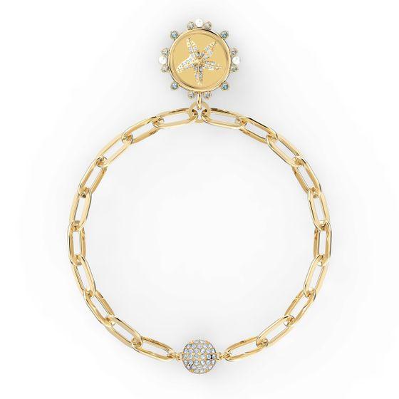 Pulseira-The-Elements-Star-branca-banhada-com-tom-dourado