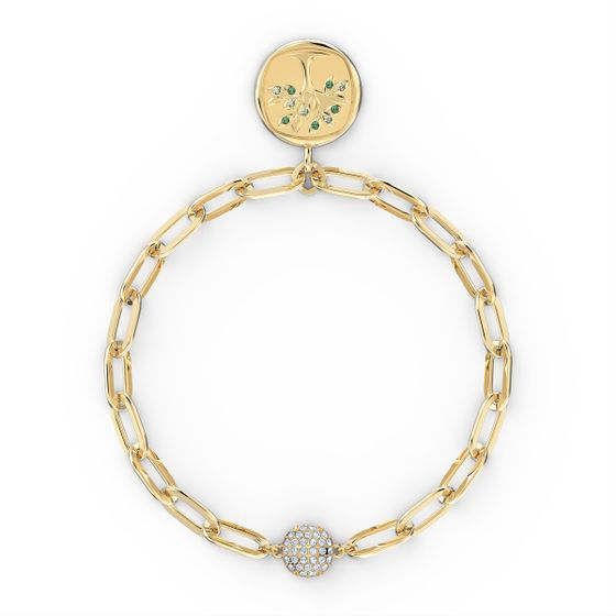 Pulseira-The-Elements-Tree-verde-banhada-com-tom-dourado