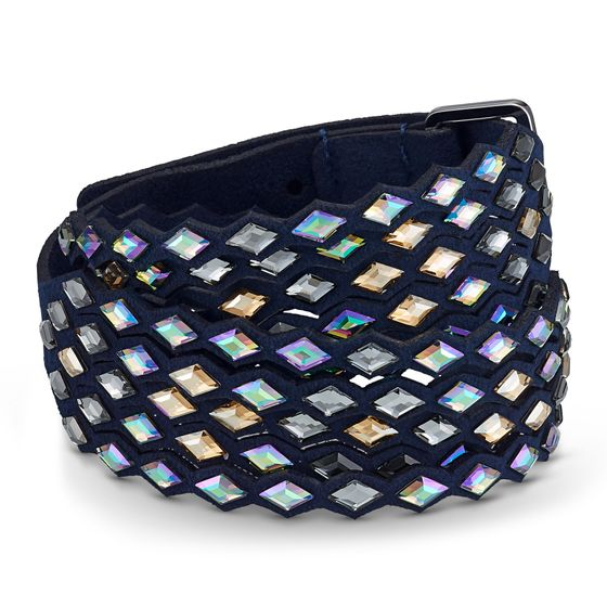 Pulseira-Swarovski-Power-Collection-azul-escuro