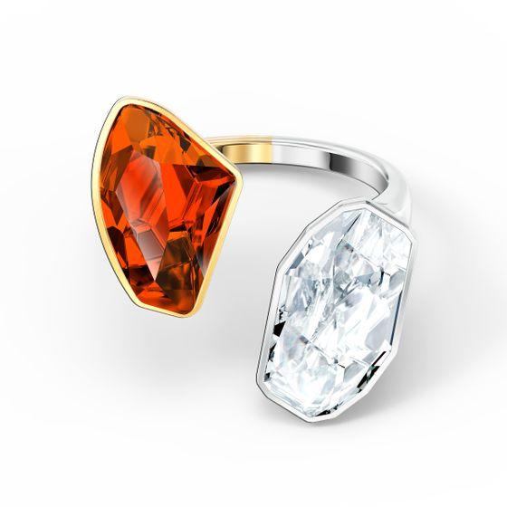 Anel-The-Elements-vermelho-acabamento-em-mescla-de-metais