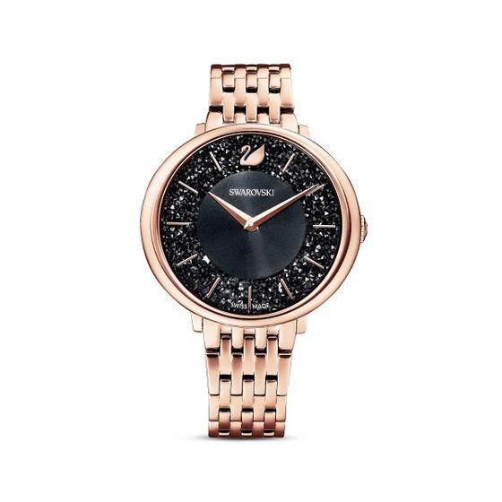 Relogio-Crystalline-Chic-pulseira-em-metal-preto-PVD-rosa-dourado